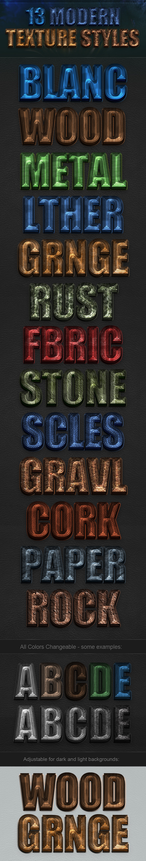 13 Modern Texture Styles - Text Effects Styles