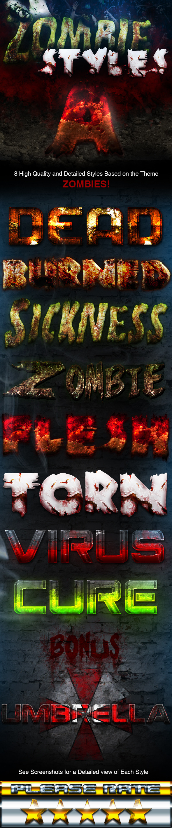 Zombie Styles - Text Effects Styles