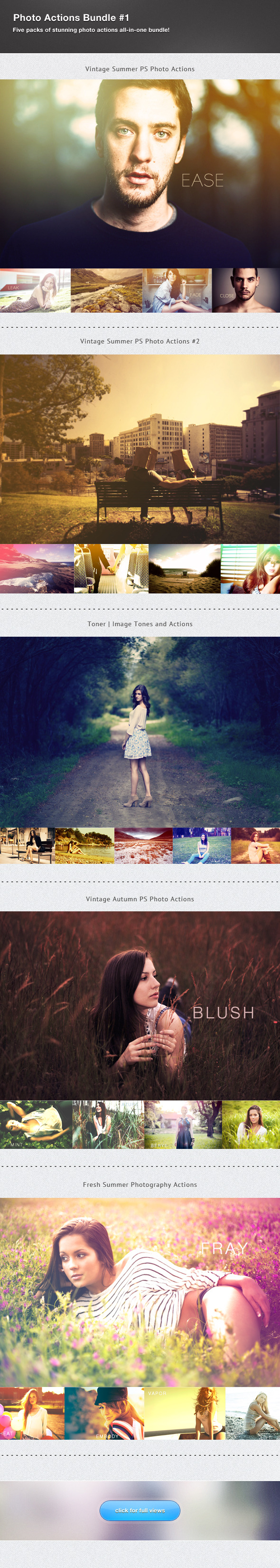 Photography Actions Bundle #1 - Photo Effects Actions