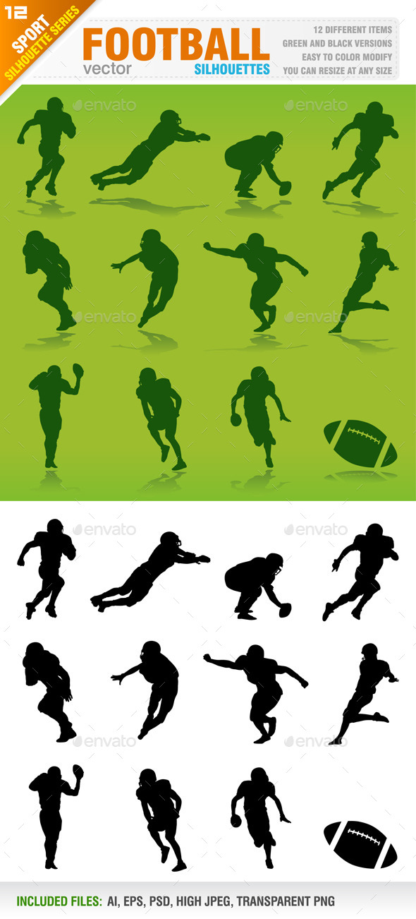 GraphicRiver Football Silhouettes 8792983