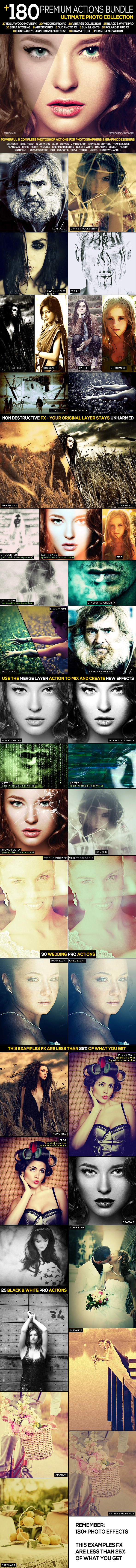 180+ Premium FX Action Bundle | Ultimate Collection - Photo Effects Actions