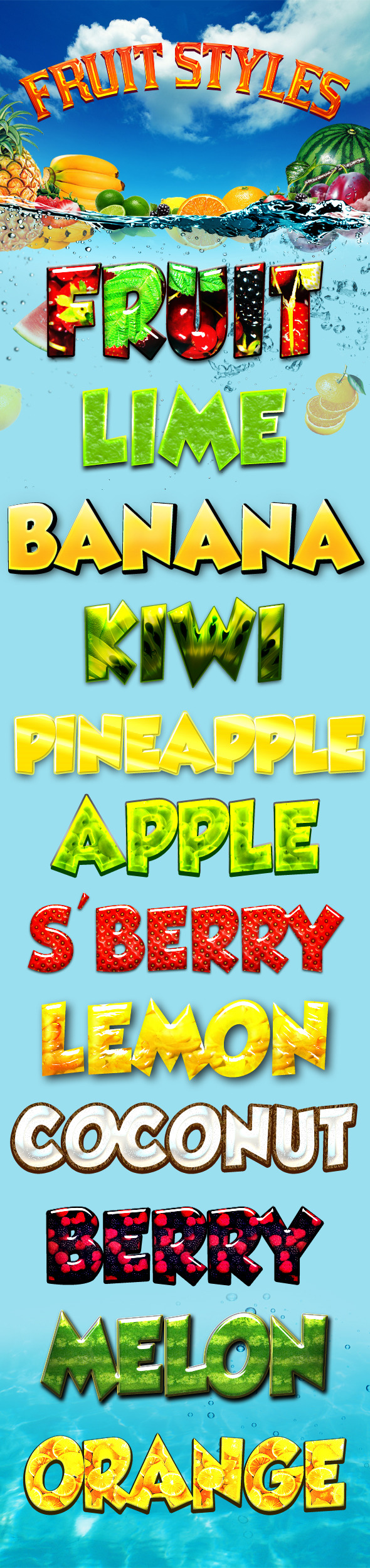 Fruit Styles - Text Effects Styles