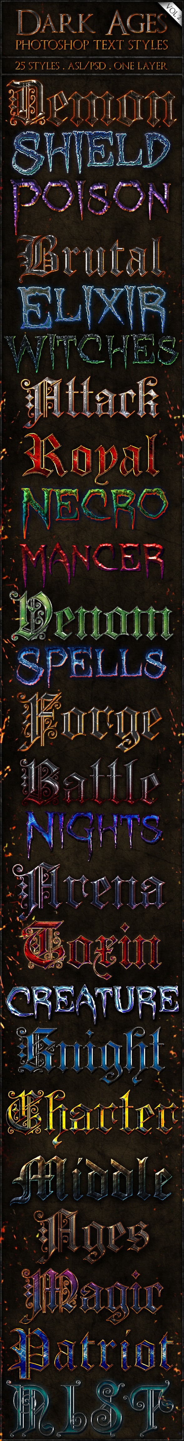 Dark Ages vol. 2 - Text Styles - Text Effects Styles