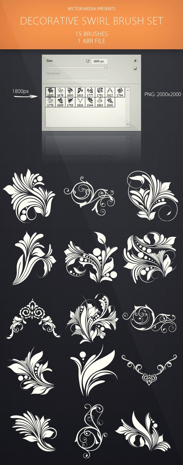 Decorative Swirl - Brush Set - Flourishes Brushes