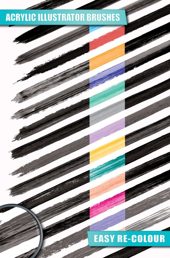 Acrylic Illustrator Brushes - Artistic Brushes