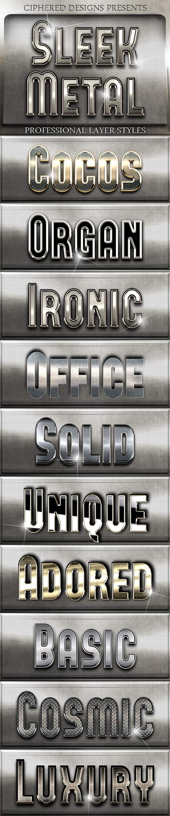 Sleek Metal - Professional Layer Styles - Text Effects Styles