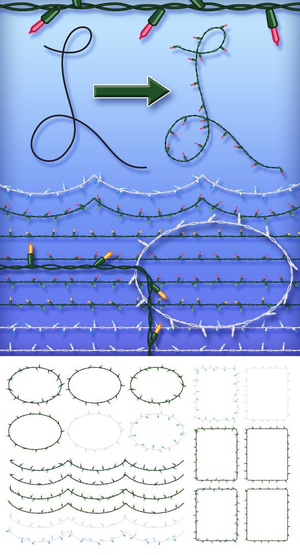 Christmas Lights Brush Set