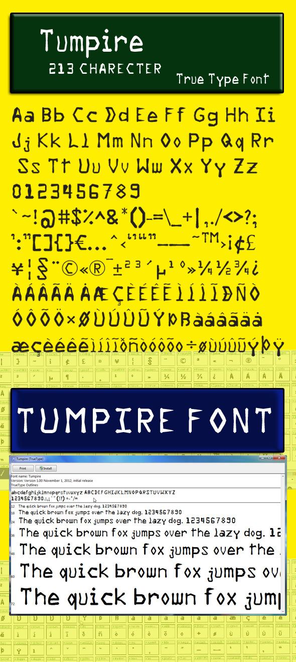 Tumpire Font - Futuristic Decorative