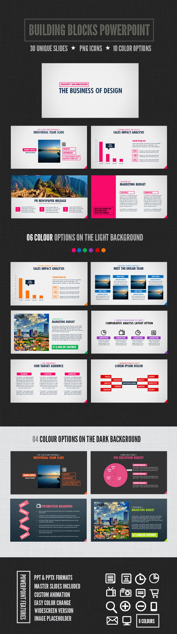 Building Blocks Powerpoint - PowerPoint Templates Presentation Templates