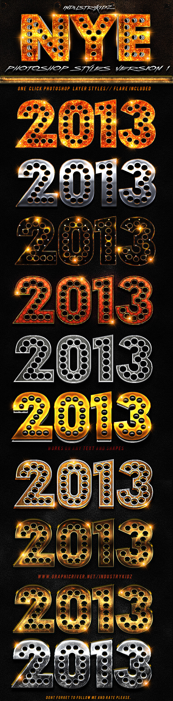 New Year Photoshop Styles  - Styles Photoshop