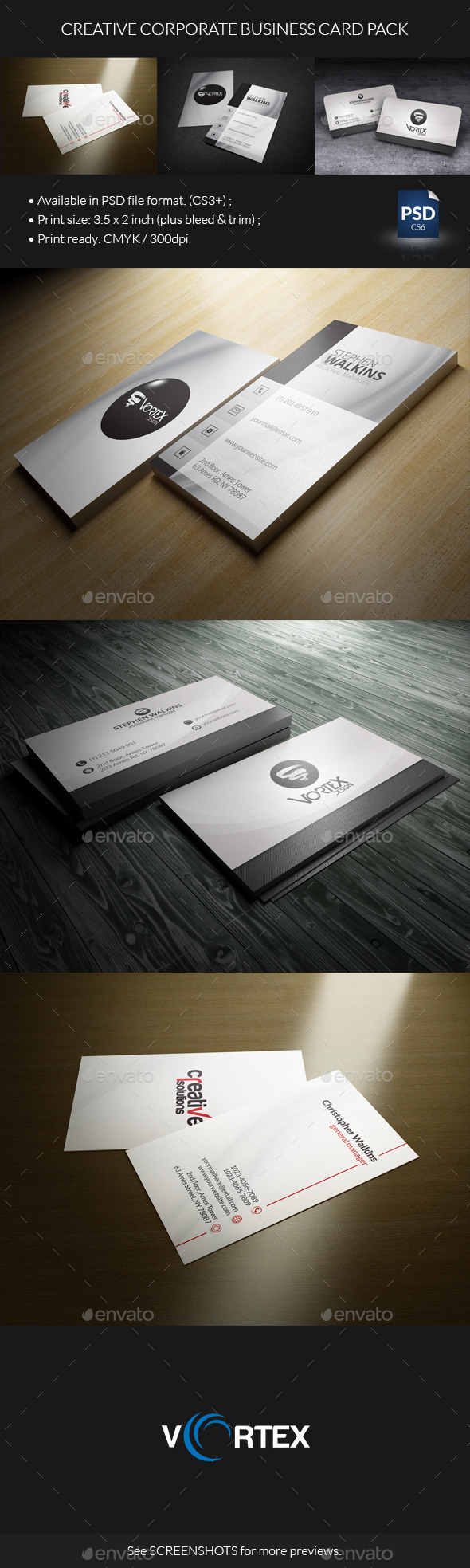 GraphicRiver Creative Corporate Business Card Pack 8793112