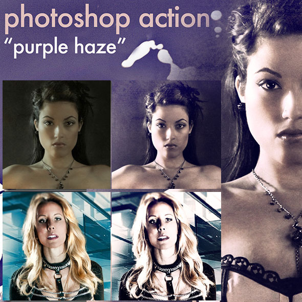 "Photoshop Action ""Purple Haze"" - Photo Effects Actions"