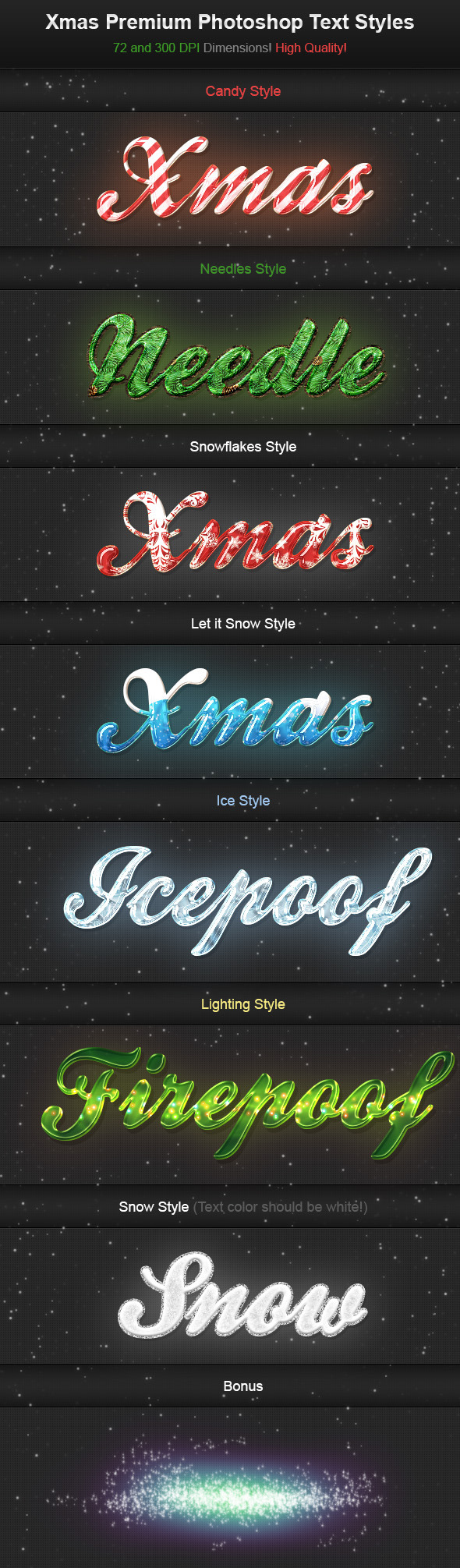 Xmas Premium Photoshop Text Styles - Text Effects Actions