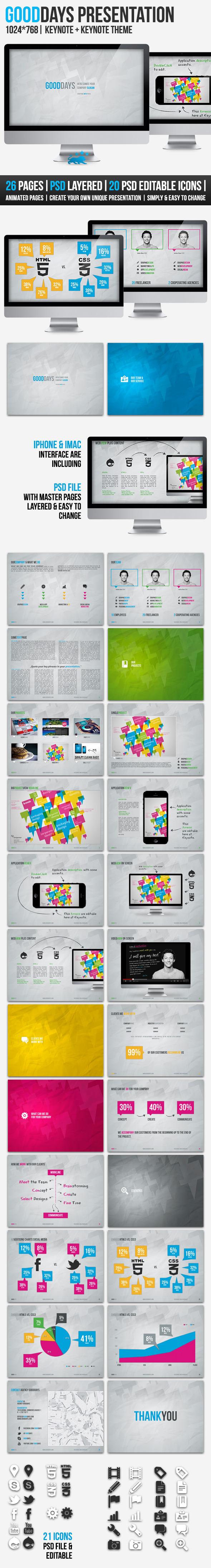 GOODDAYS | 26 Pages |Keynote Presentation - Creative Keynote Templates