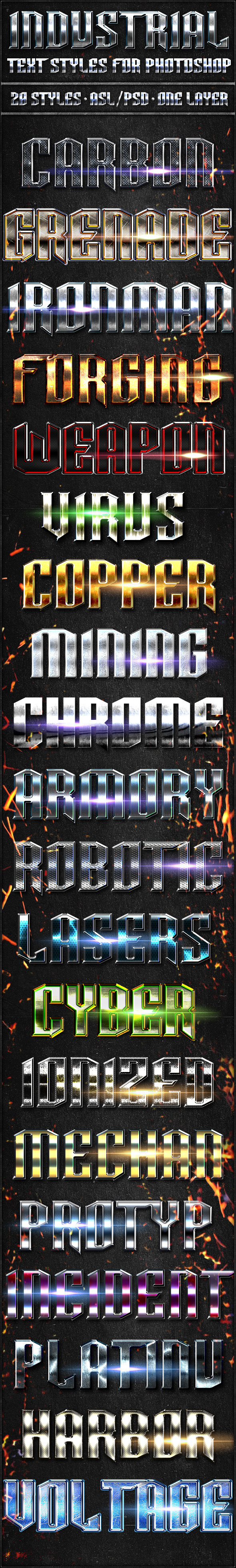 Industrial Pack - Text Styles - Text Effects Styles