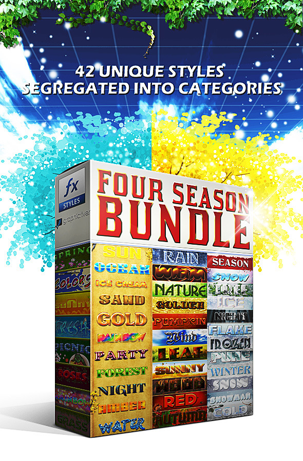 Four Season Styles (BUNDLE) - Text Effects Styles