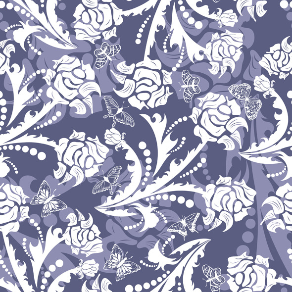 Seamless Floral Pattern - Nature Textures / Fills / Patterns