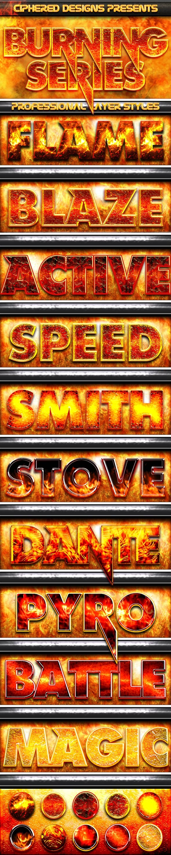 Burning Series - Professional Styles - Text Effects Styles