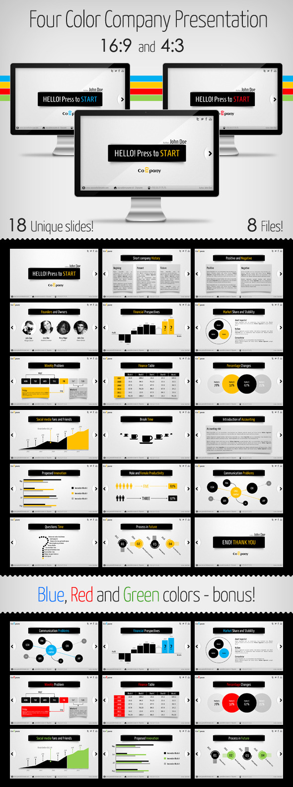 Clean and Modern Company Presentation - Business Keynote Templates