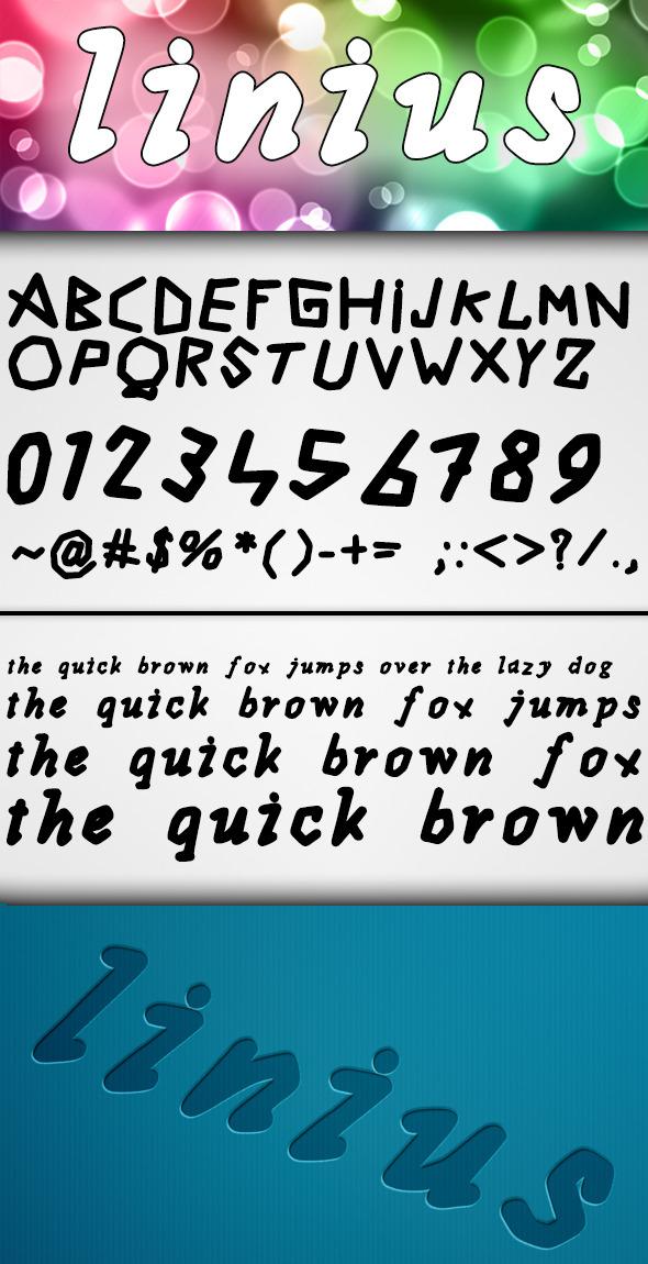 Linius Font - Comic Decorative
