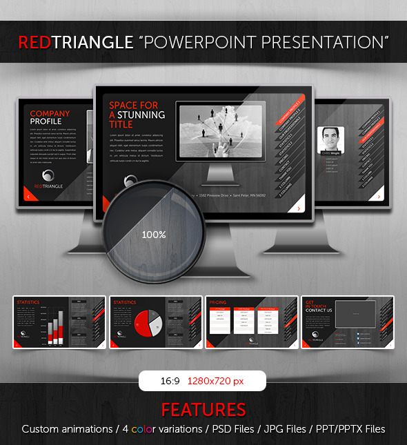 Powerpoint RedTriangle Theme