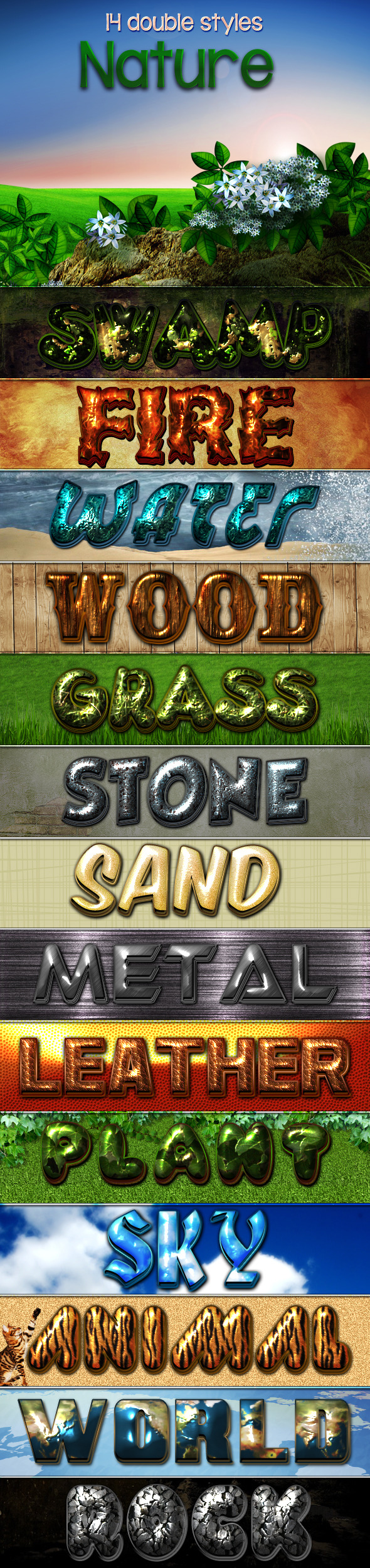 Nature Styles - Text Effects Styles