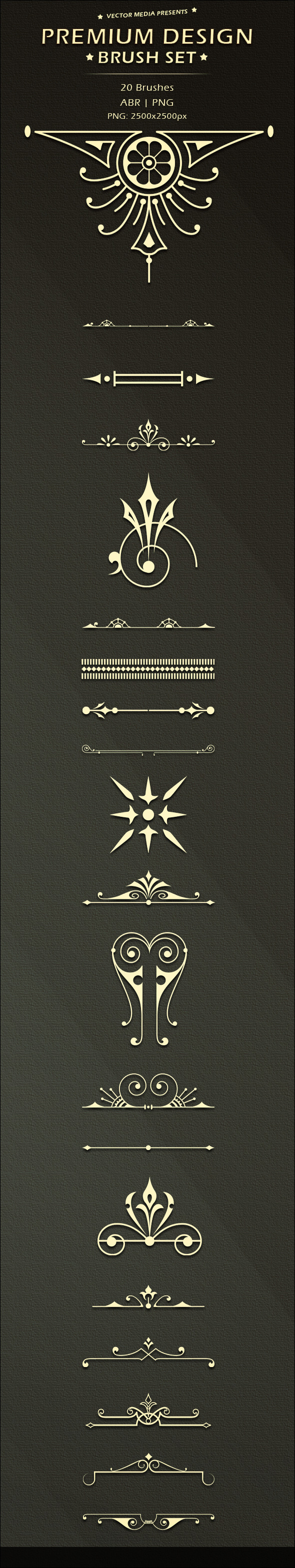 Premium Design - Brush Set - Flourishes Brushes