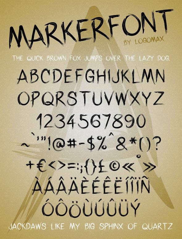 Marker Font - Hand-writing Script