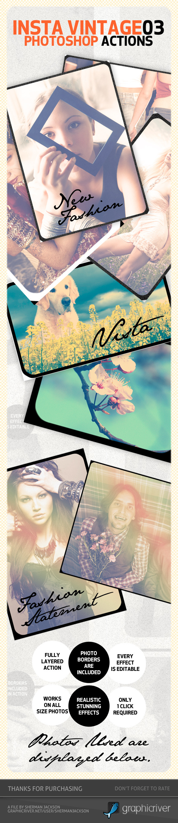 INSTA Vintage Photoshop Actions (ATN)#3 - Photo Effects Actions