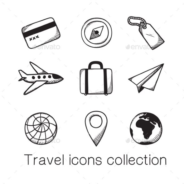 GraphicRiver Travel Icons Collection 8793518