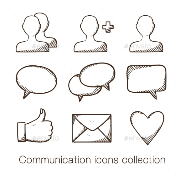 GraphicRiver Communication Icons Collection 8793521