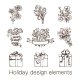 Presents and Flowers Sketch Collection.  - GraphicRiver Item for Sale