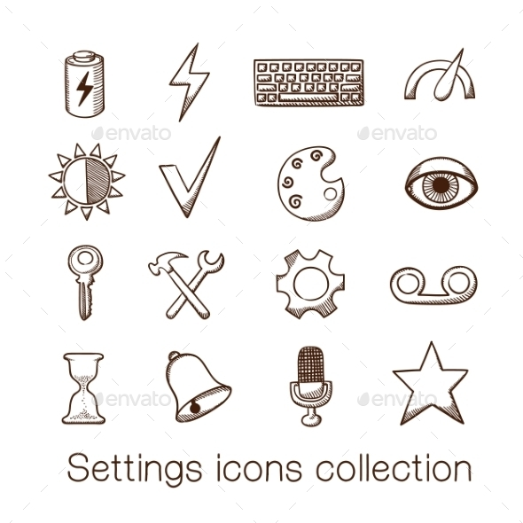 GraphicRiver Settings Icons Collection 8793540