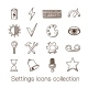 Settings Icons Collection.  - GraphicRiver Item for Sale