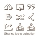 Sharing Icons Collection. - GraphicRiver Item for Sale