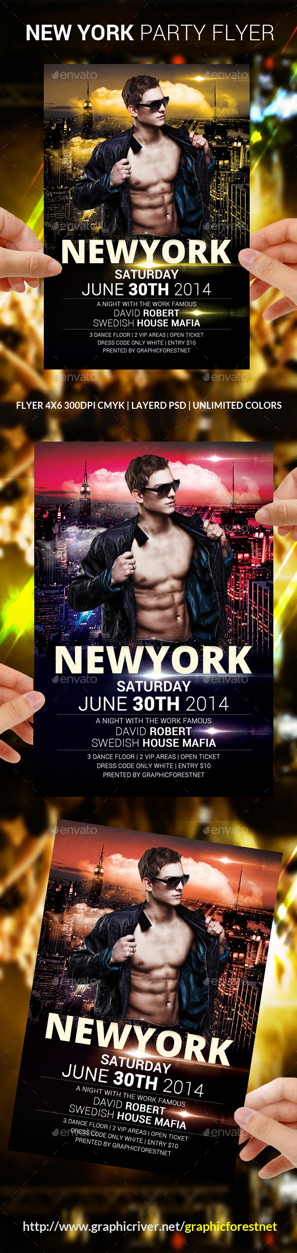 GraphicRiver New York Party Flyer Template 8793737