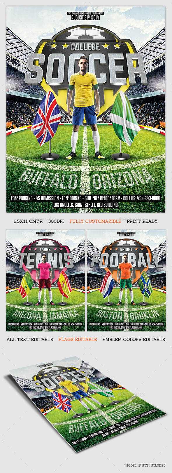GraphicRiver Sport Game Flyer Template 8776252