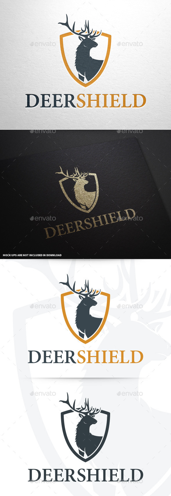 GraphicRiver Deer Shield Logo Template 8793767