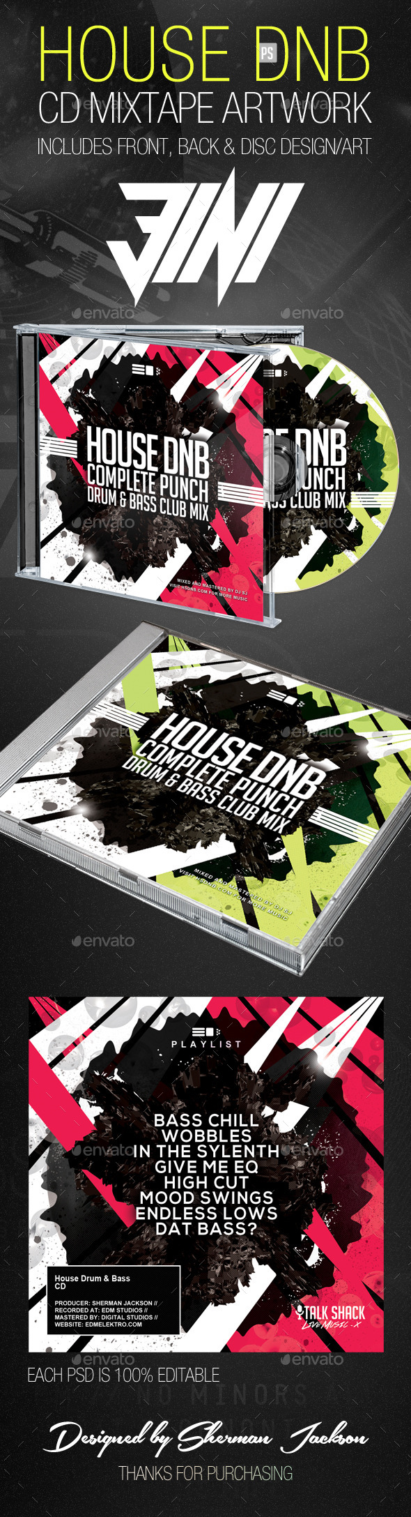 GraphicRiver House Drum n Bass CD Artwork Template 8793986