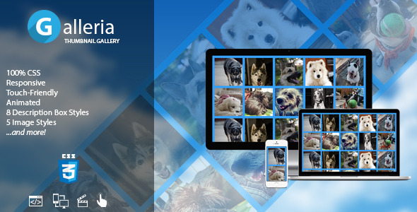 Galleria - CSS Responsive Touch-Friendly Gallery with Effects - CodeCanyon Item for Sale