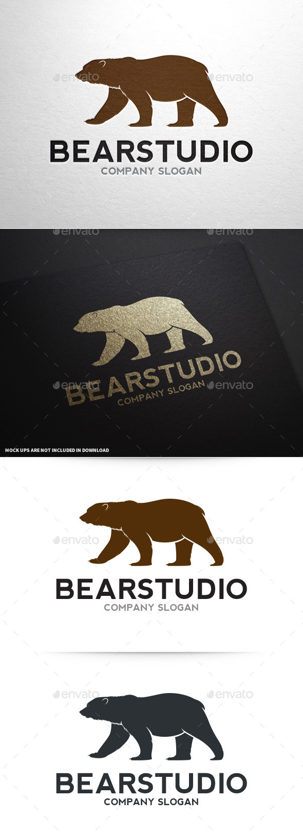GraphicRiver Bear Studio Logo Template 8794052