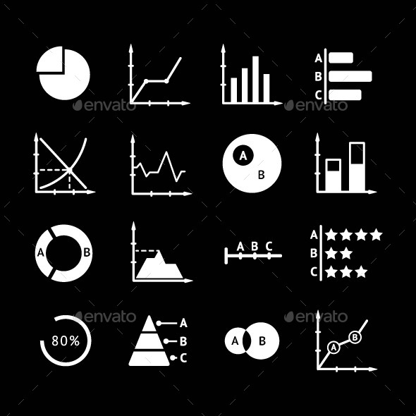 GraphicRiver Set Icons of Diagrams and Charts 8794073