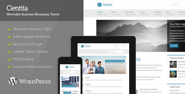 Centita - Minimalist Business Wordpress Theme - Business Corporate