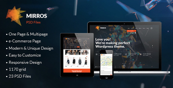 MIRROS - PSD Template - Creative PSD Templates
