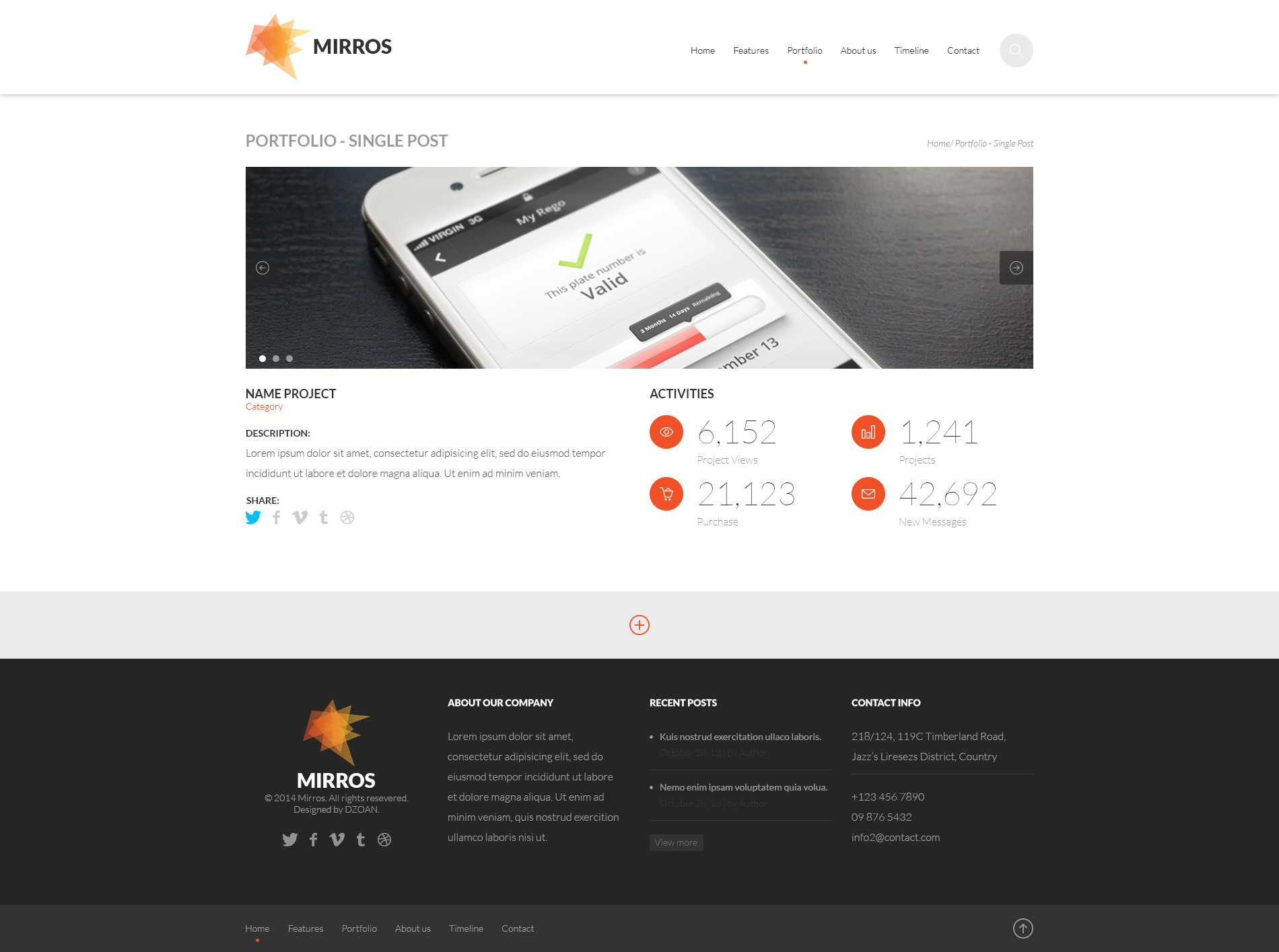 MIRROS - PSD Template