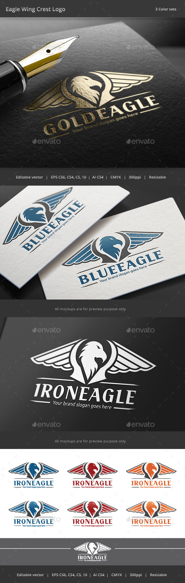 GraphicRiver Eagle Wing Crest Logo 8794335