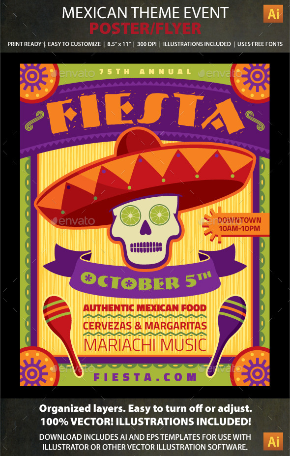 GraphicRiver Mexican Theme Event Poster or Flyer 8782801