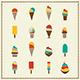Vintage Retro Ice Cream Icons - GraphicRiver Item for Sale
