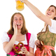 Woman wants to shower afraid girl with beer - PhotoDune Item for Sale