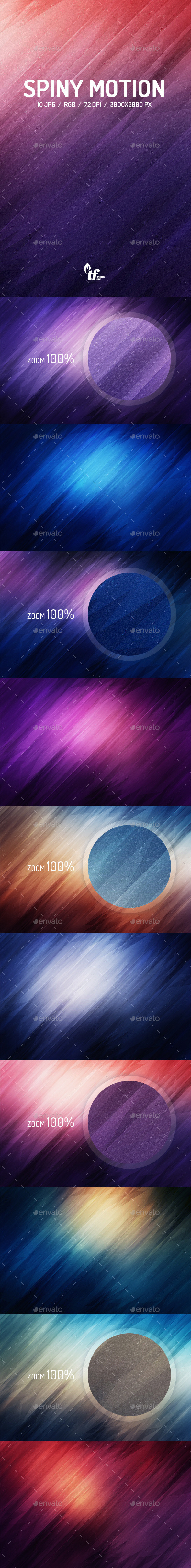 GraphicRiver Spiny Motion Background 8794473